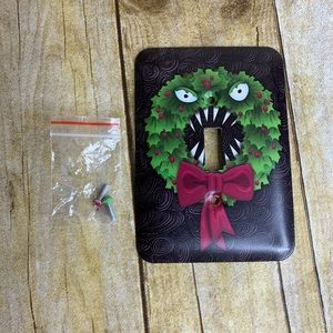 Switch Plate Wreath Nightmare Before Christmas